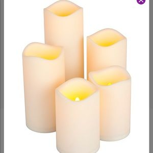 Indoor/Outdoor LED Candle Set